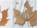 Ажурная резьба по листьям деревьев — ювелирное искусство