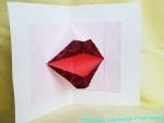 Открытка с «бумажным поцелуем». Мастер-класс