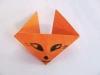 Лисенок оригами. Делаем вместе с детьми.