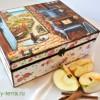 Пошаговый мастер-класс по декорированию чайной шкатулки «Со вкусом яблок»
