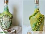 Бутылка коньяка, декорированная в морском стиле