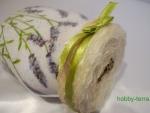 Идея оформления офисной сахарницы «Букетик лаванды»