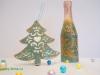 Идея декорирования бутылки шампанского в стиле винтаж