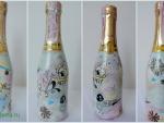 Декор шампанского с зимними узорами