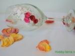 Четыре идеи декора свадебных бокалов