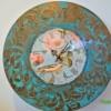 """Идея декорирования часов """"Поет над розою восточный соловей"""""""