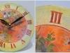 Идея декорирования часов «Птичьи трели»