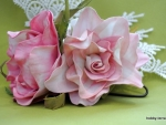 Ревелюр и масляная живопись (мастер-класс по созданию цветов из фоамирана)