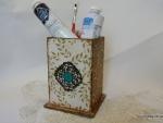 Идея для декора карандашницы «Бирюзовый глаз»