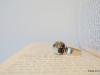 Кольцо с эпоксидной смолой и сухоцветами «Василек и незабудки»