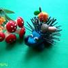Поделка ежик из пластилина и гвоздиков