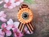 Георгиевская брошь, декорированная зефиркой канзаши