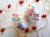 Радужный бантик с помпончиками своими руками