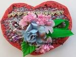 Нарядное декоративное сердечко своими руками – подарок ко Дню влюбленных
