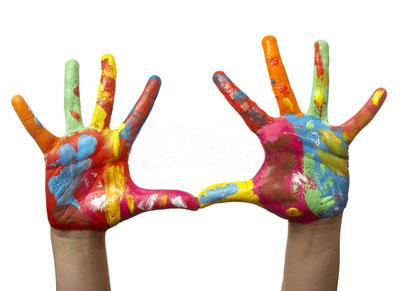 руки-в-краске
