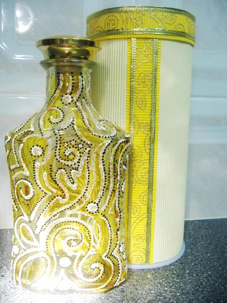 Роспись-бутылки-витражными-красками