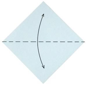 мышонок берем квадратный лист бумаги