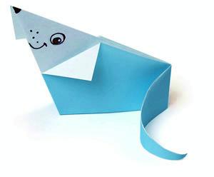 мышонок оригами детям