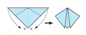 оригами божья коровка сворачиваем углы