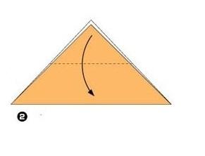 оригами лисенок этап 2
