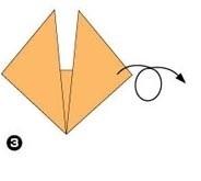 оригами лисенок этап 3