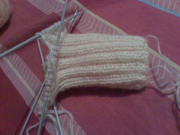 Вязание резинка для носков 325