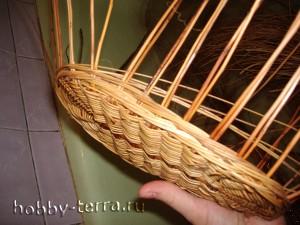 Плетение-стенок-коляски---веревочка-в-три-прута