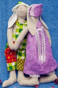 Тильда-кролик-Стесняюсь