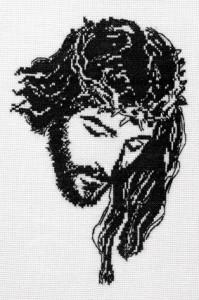 Вышивка-крестом-Иисус-Христос