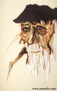 Картины-из-бумаги---Квиллинг---Старик