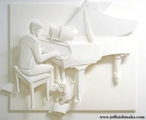 Картины-из-бумаги---Пианист-с-собакой