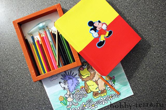 Мастерим-коробку-с-карандашами-сами
