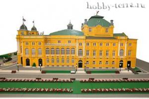 Национальный-театр-в-Хорватии-из-блоков-Лего