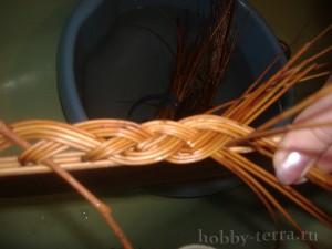 Плетение-из-лозы-загибки-Коса---ШАГ-13