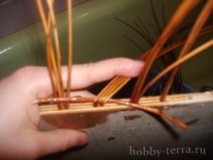 Плетение-из-лозы-загибки-Коса---плетем-слева-направо