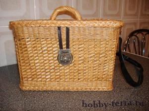 Плетение-из-лозы---сумка-сундучок