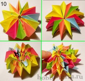 Модульное-оригами-фейерверк-из-бумаги