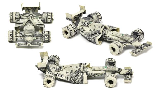 Оригами-из-денег-