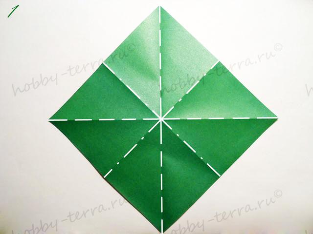 Новогодняя-оригами-елка-1