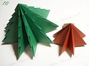Новогодняя-оригами-елка-10