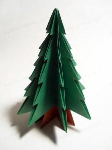 Новогодняя-оригами-елка-12