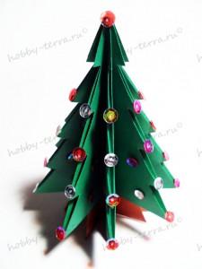 Новогодняя-оригами-елка