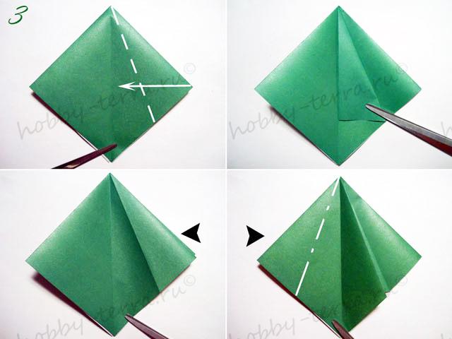 Новогодняя-оригами-елка-3