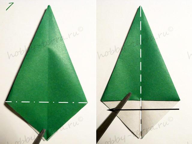 Новогодняя-оригами-елка-7