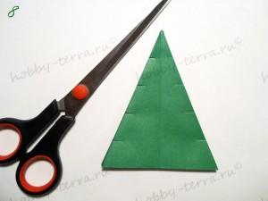 Новогодняя-оригами-елка-8