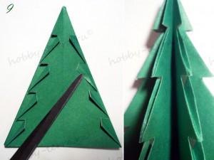 Новогодняя-оригами-елка-9