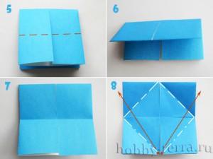 Оригами-бабочка-этапы-5-8