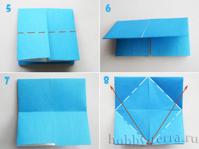 Делать оригами бабочку