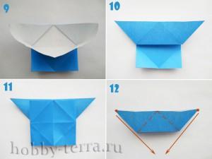Оригами-бабочка-этапы-9-12