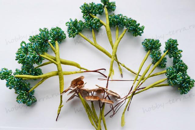 деревья из бисера мастер класс с пошаговым фото.